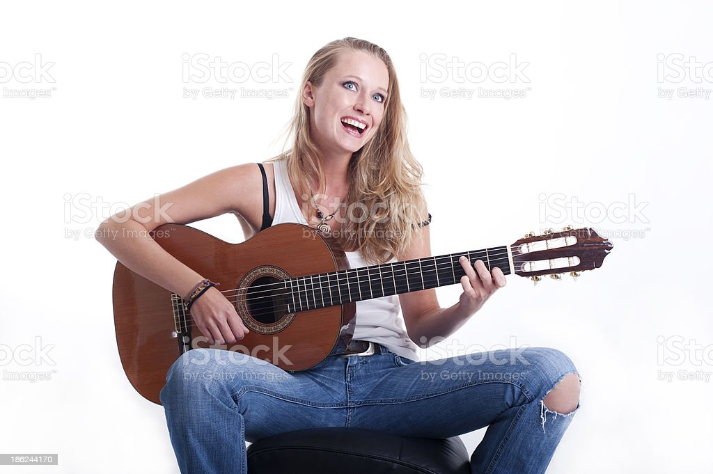 Singing a song royalty-free stock photo