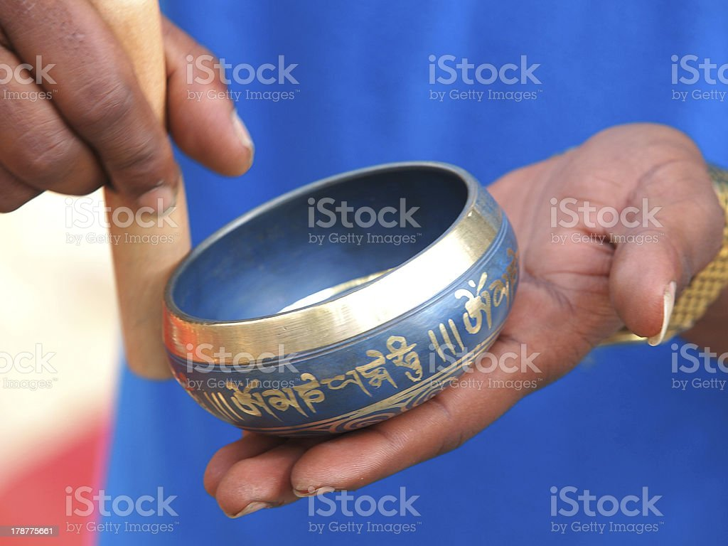 singing bowl royalty-free stock photo