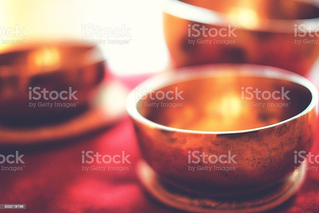 Singing bowl stock photo
