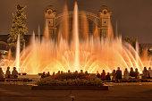 Singing dancing fountains show in Prague