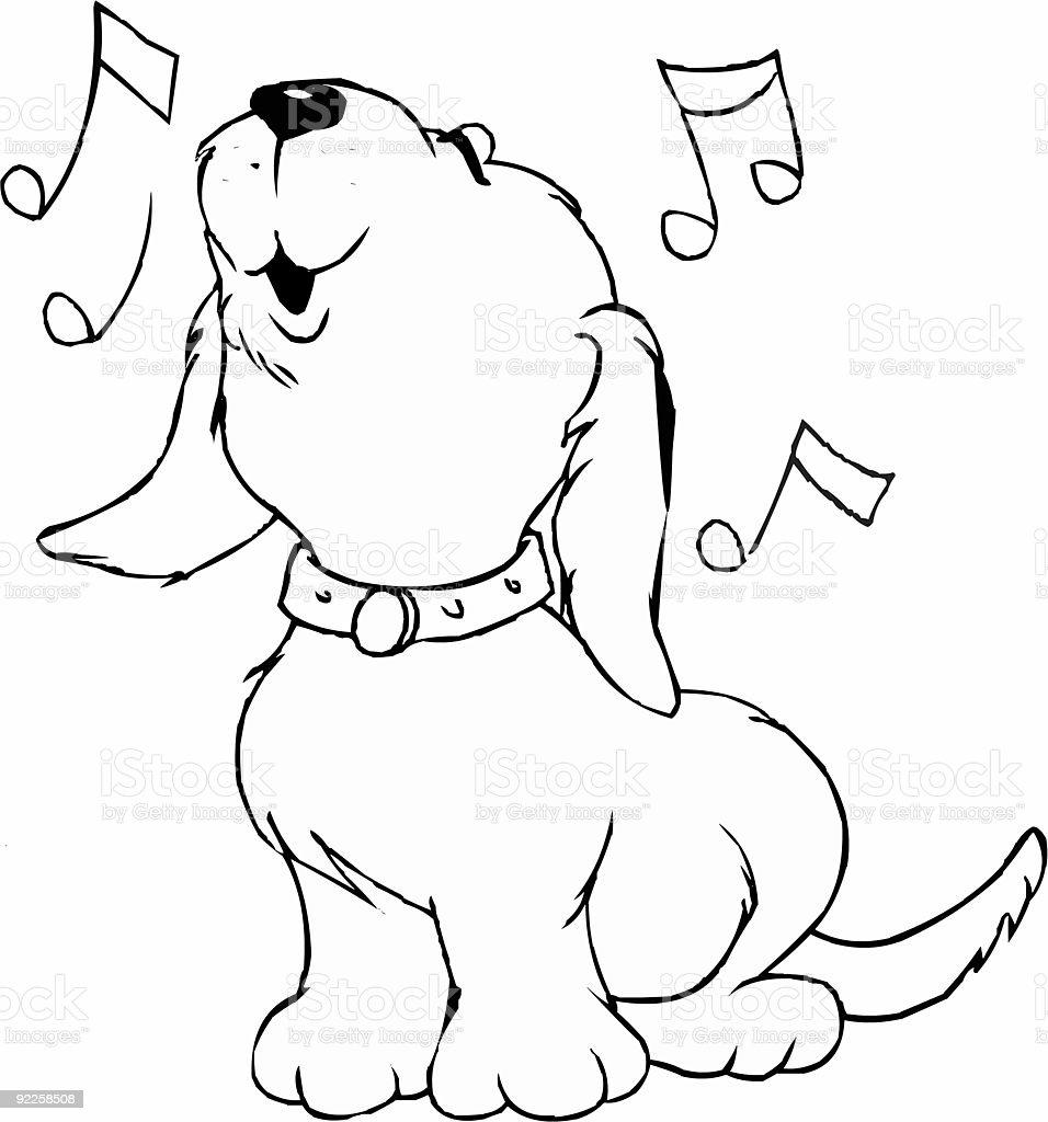 singing dog stock photo