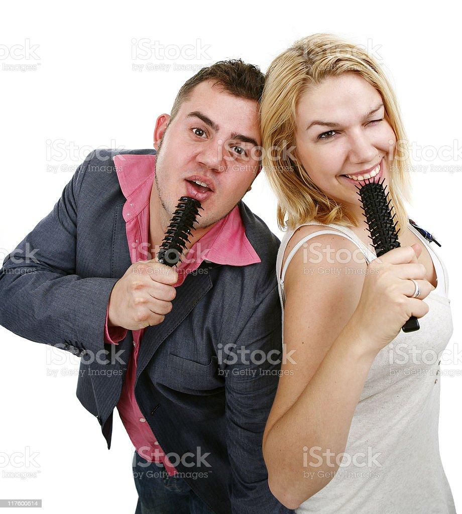 Singing for fun stock photo