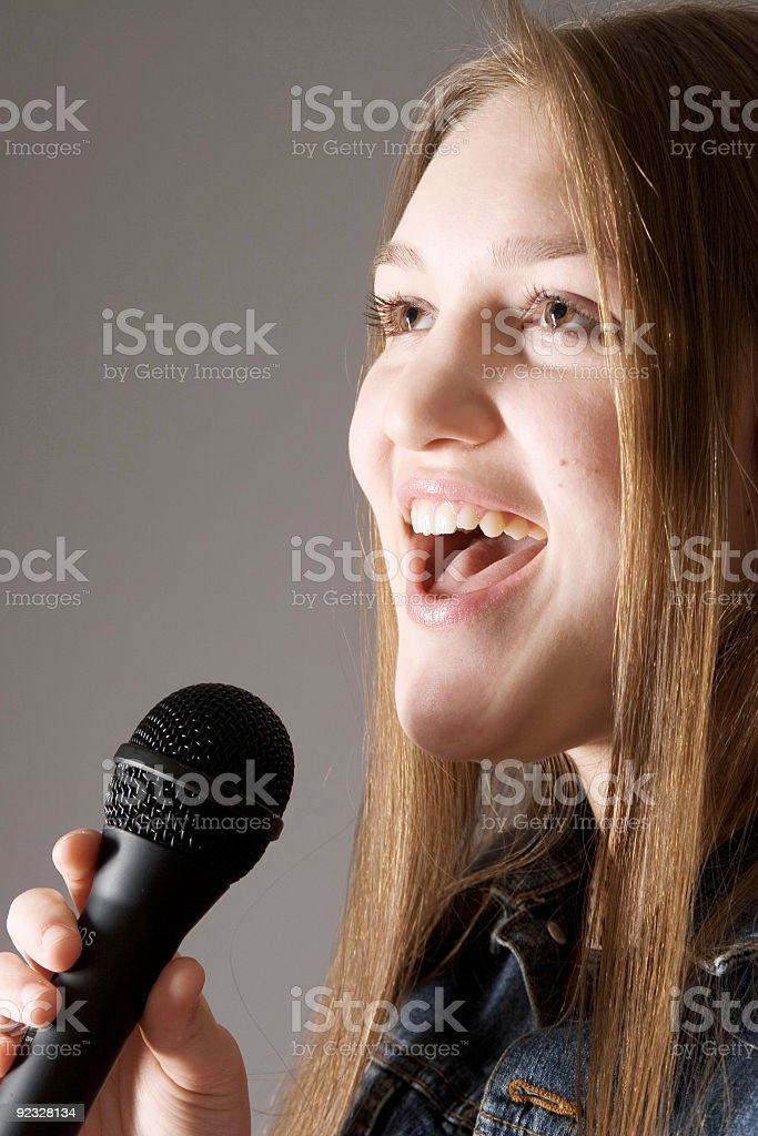 singing her heart out royalty-free stock photo