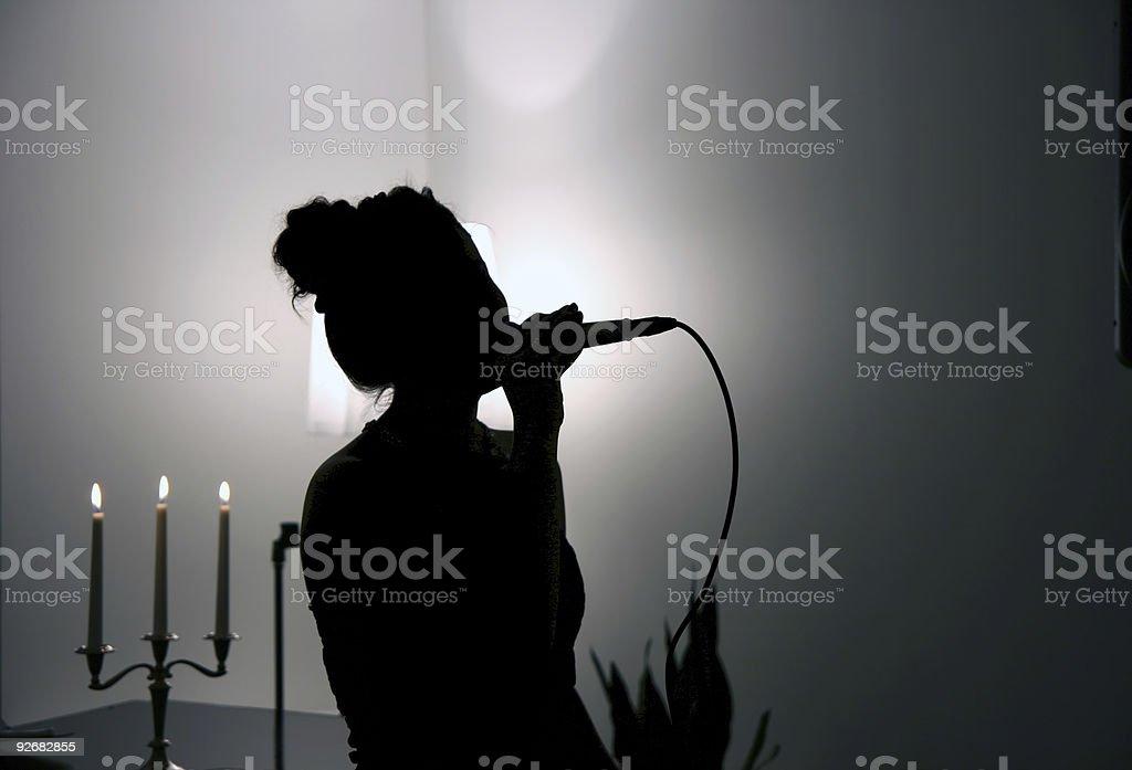 Singing in the Dark royalty-free stock photo