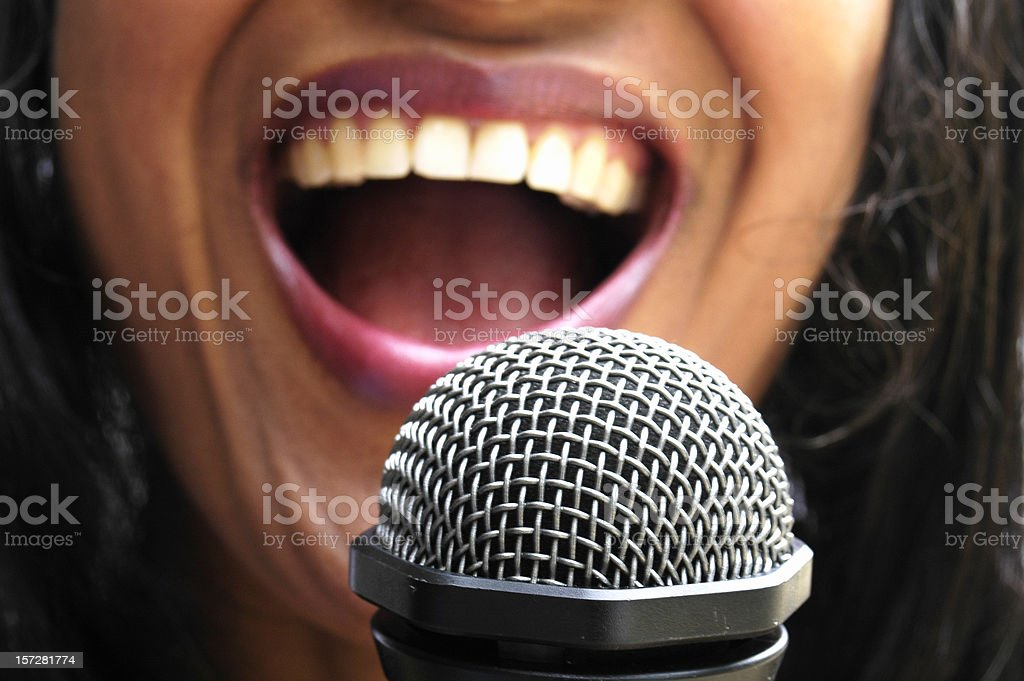 Singing stock photo