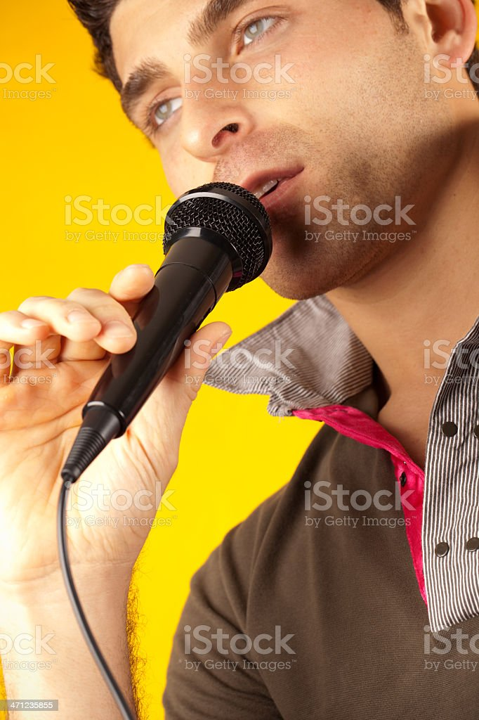 Singing royalty-free stock photo