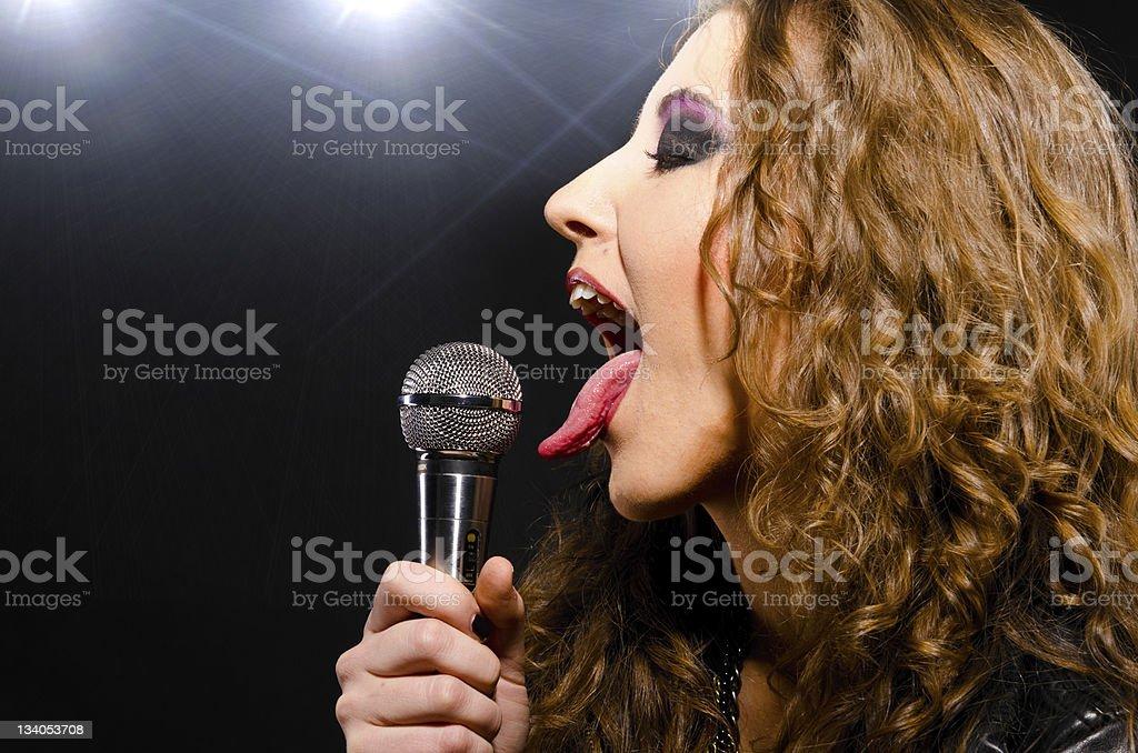 singing rock music stock photo