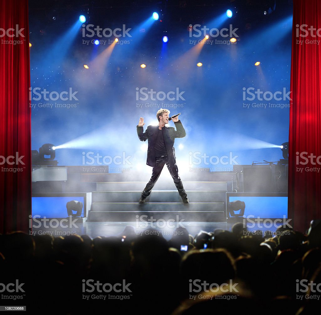 Singing Rock Star stock photo