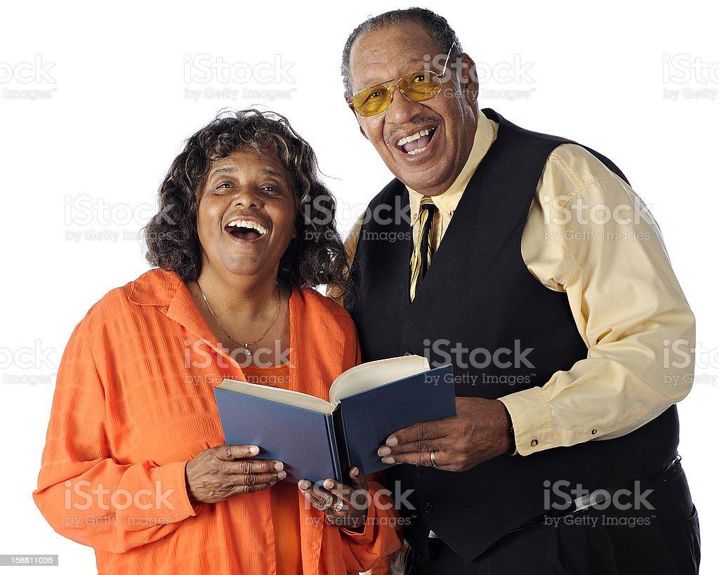 Singing Senior Couple stock photo