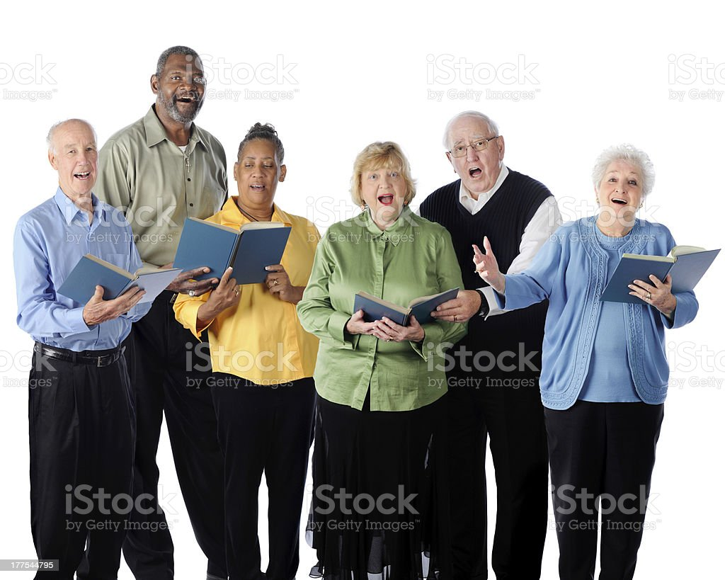 Singing Seniors stock photo