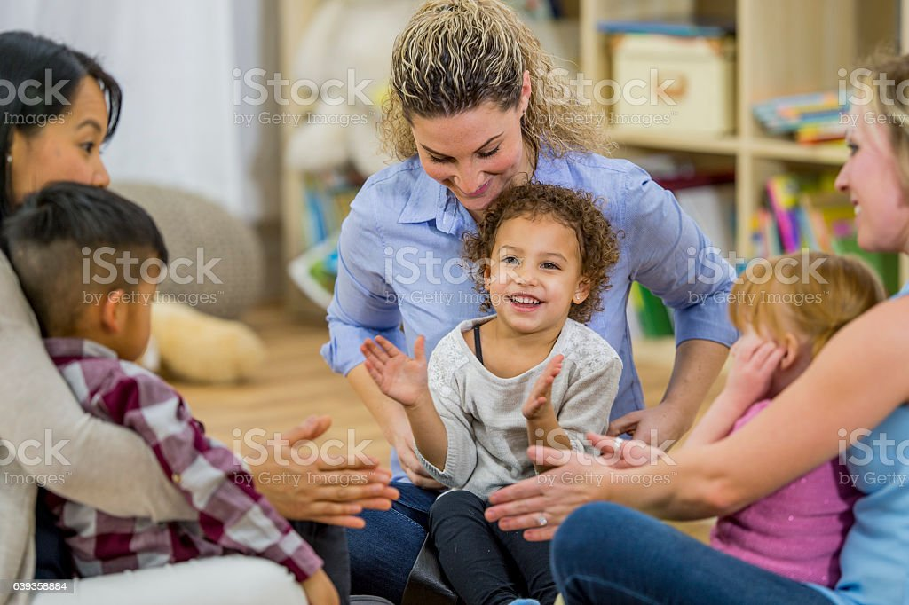 Singing Songs Together stock photo