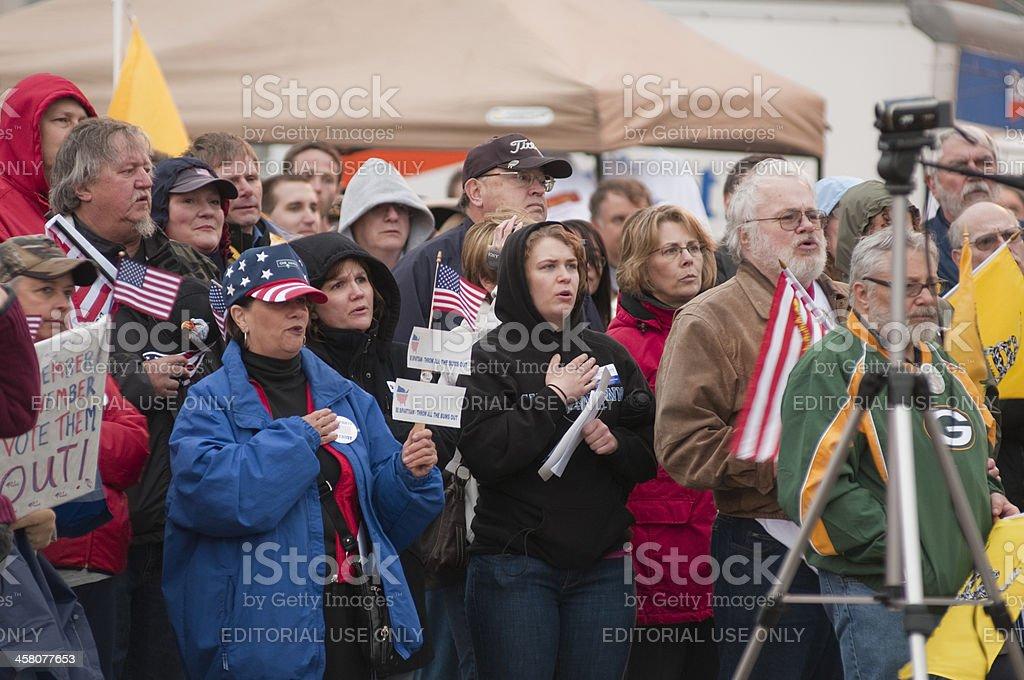 Singing the Anthem royalty-free stock photo