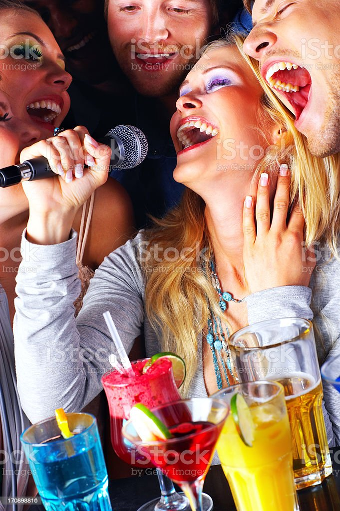 Singing the blues away royalty-free stock photo