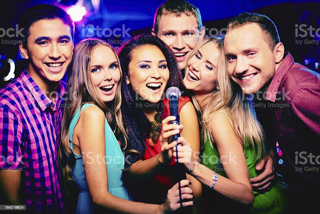 Singing together stock photo