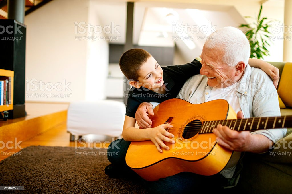 Singing together stock photo