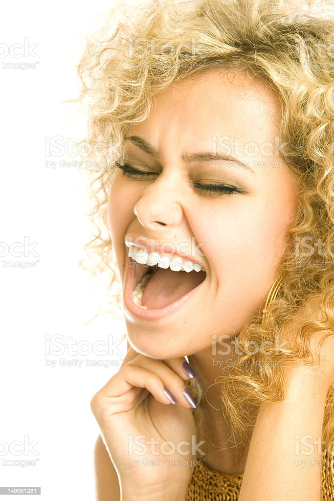 Singing woman royalty-free stock photo