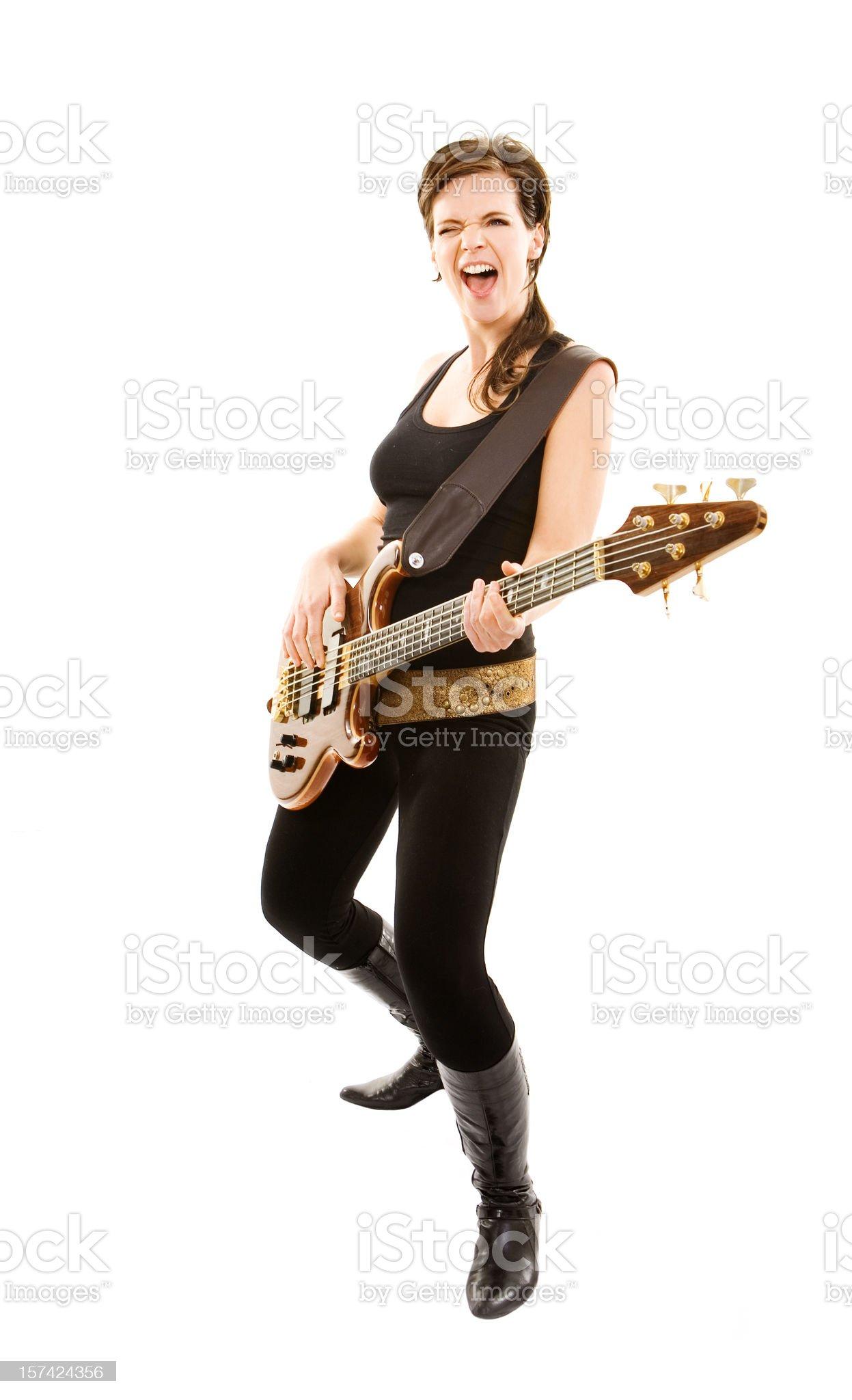 singing woman royalty-free stock photo