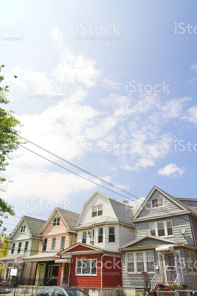 Single and Two Family Homes royalty-free stock photo
