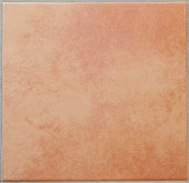 Single apricot colored ceramic tile textured full frame