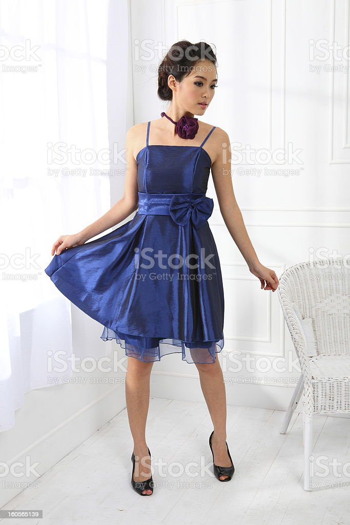Single asian woman royalty-free stock photo