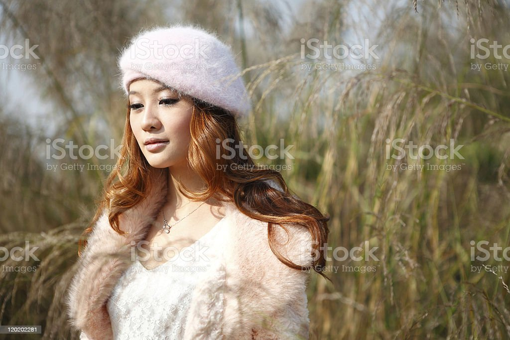 single asian young model portrait stock photo