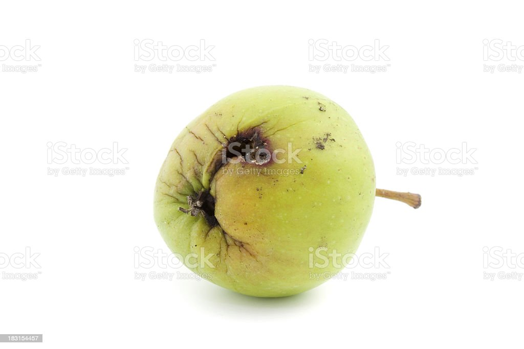 single bad apple stock photo