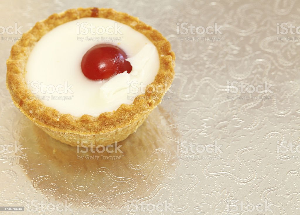 Single Bakewell Tart stock photo