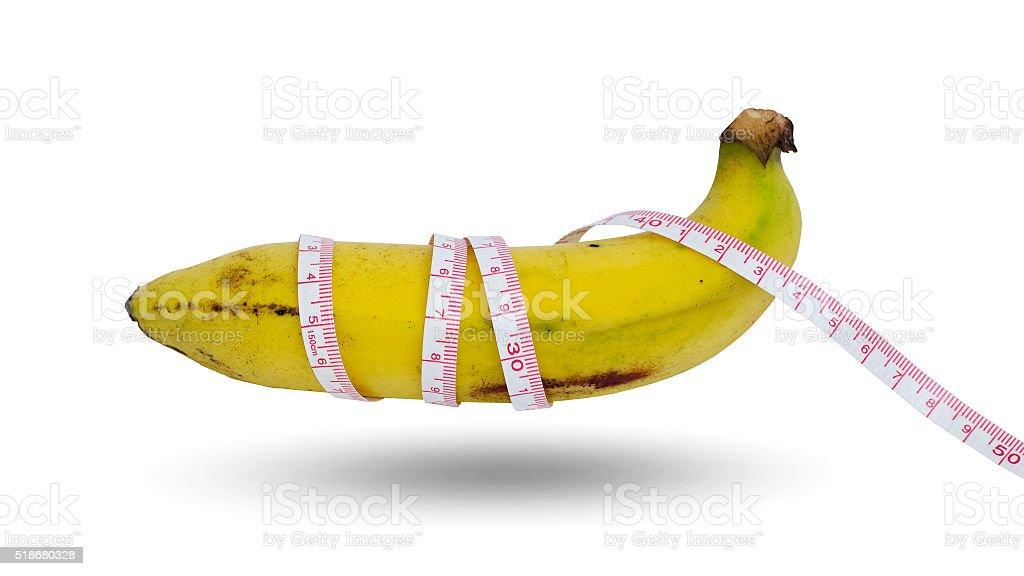 Única banana sobre fondo blanco foto de stock libre de derechos