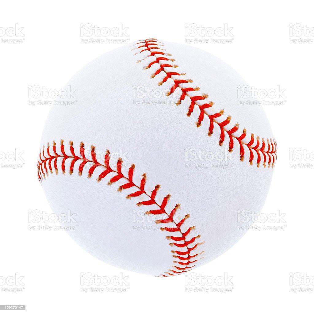 Single baseball, isolated on white stock photo