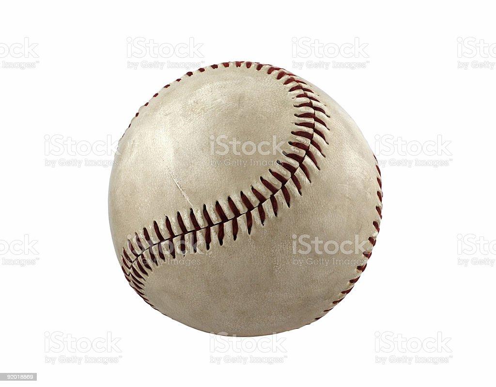 Single baseball isolated stock photo