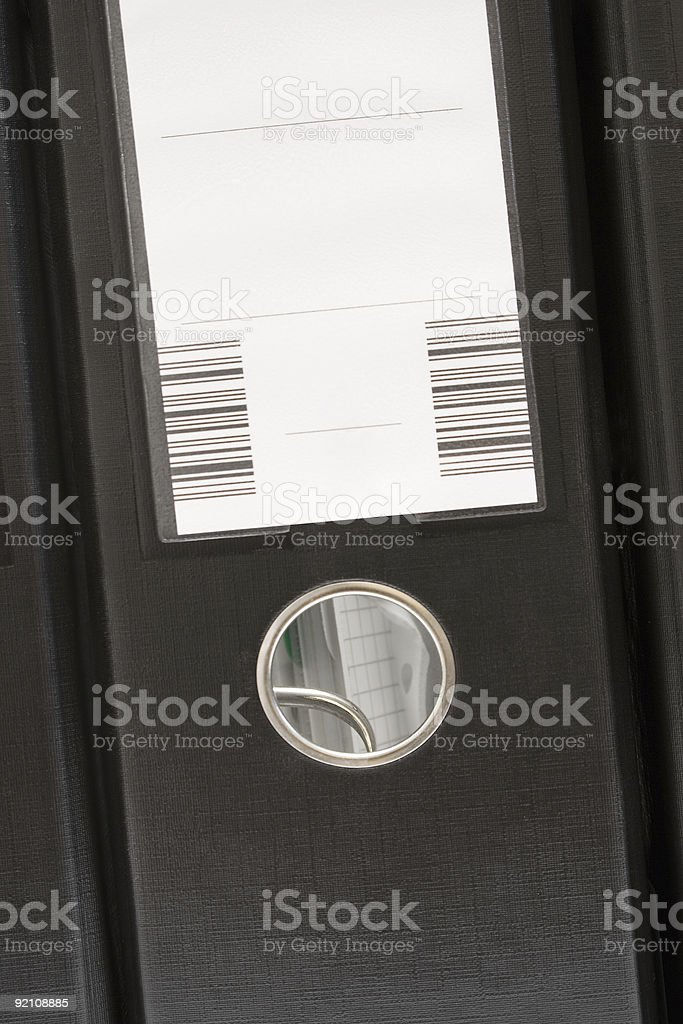 Single Black Folder (Front View) royalty-free stock photo