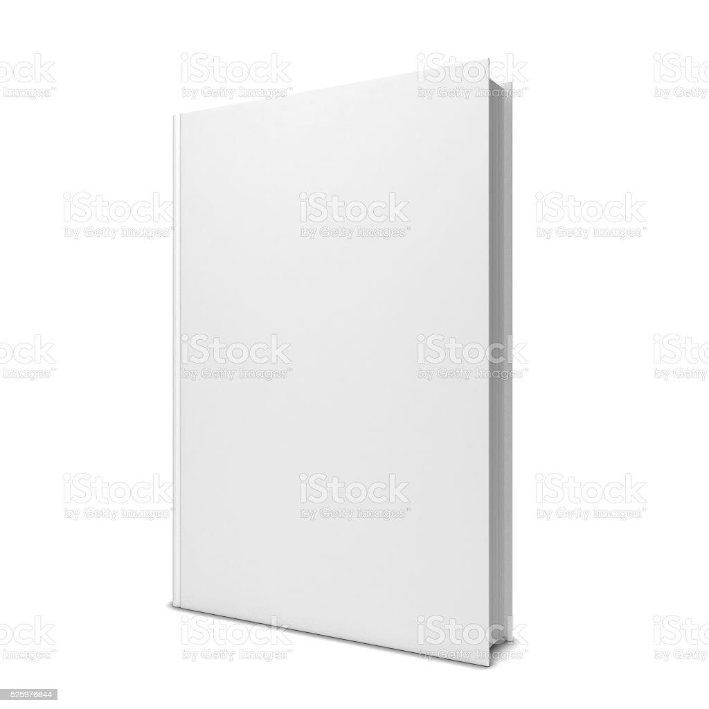 Single blank book stock photo