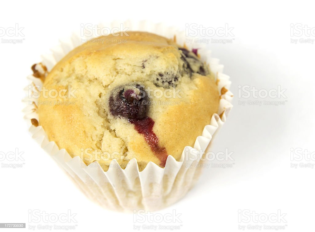 Single blueberry muffin royalty-free stock photo