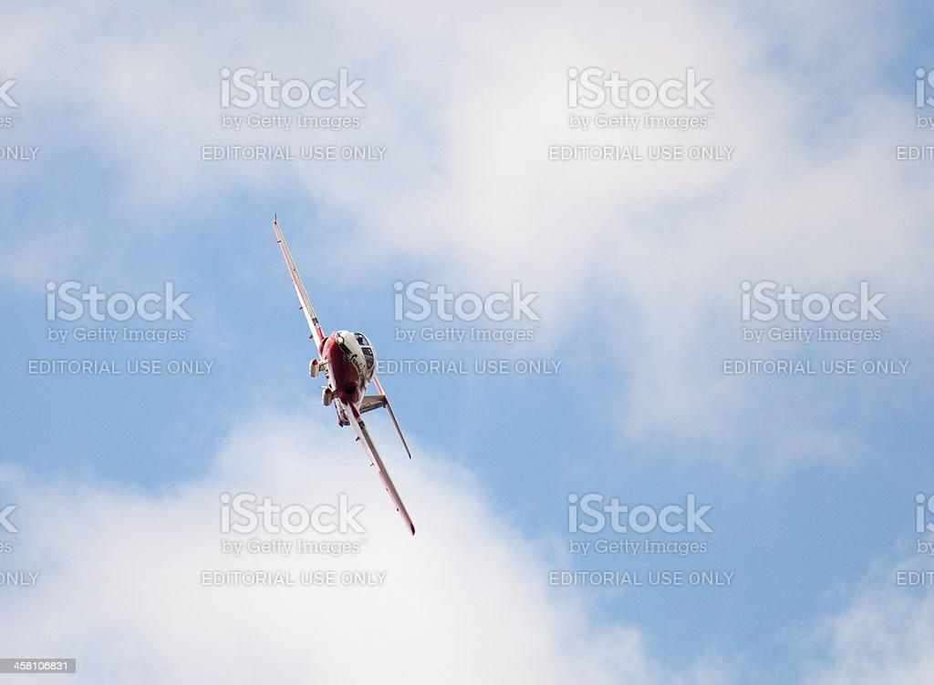 Single Canadian Snowbird Plane stock photo