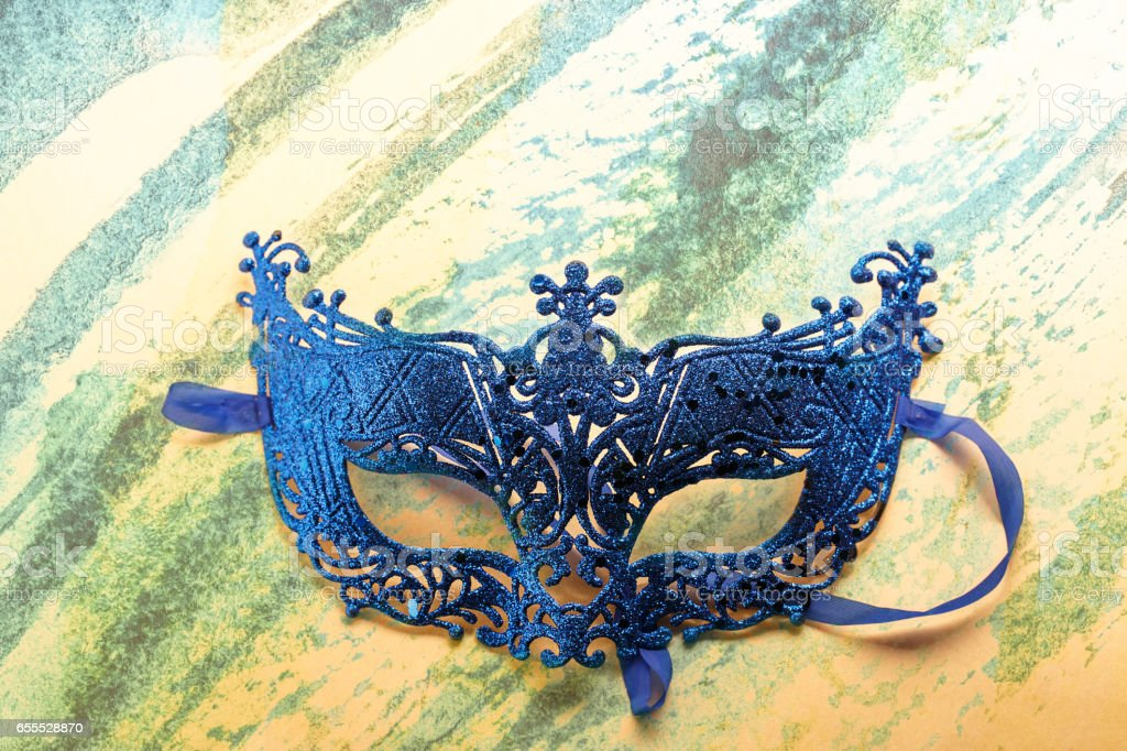 Single carnival disguise mask stock photo