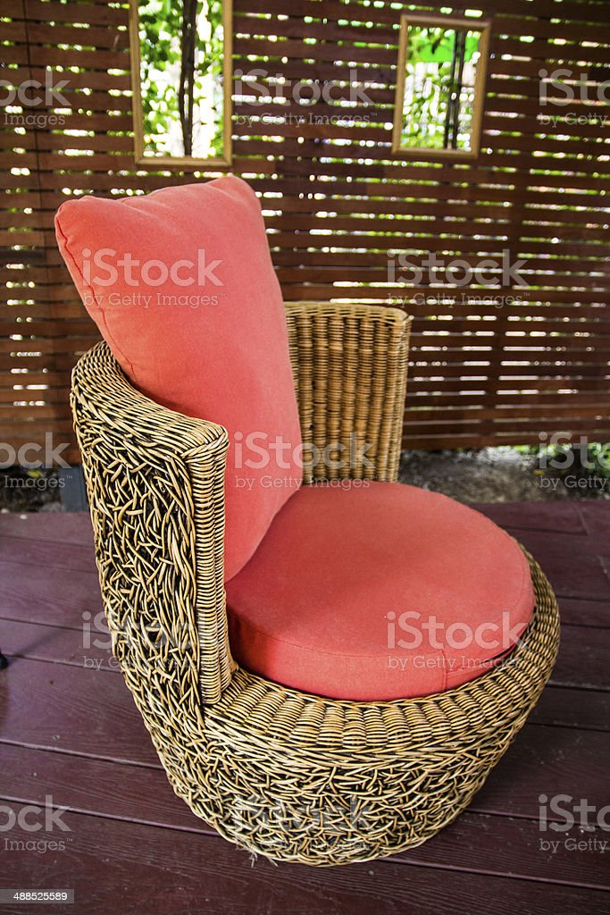 single chair stock photo