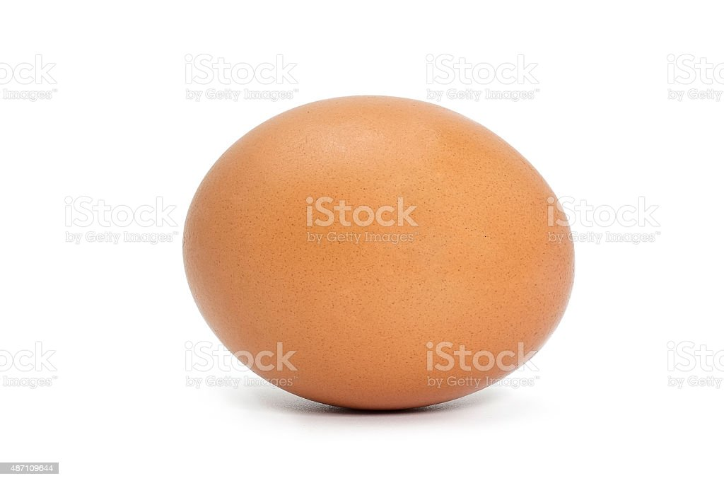 Single chicken egg isolated stock photo