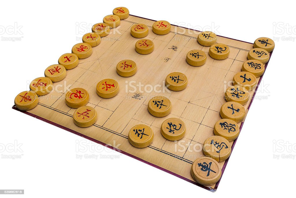 Single Chinese chess on a white background stock photo