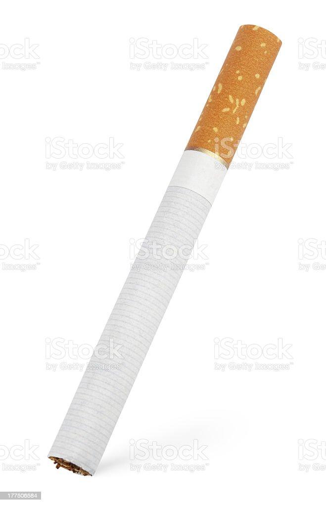 Single cigarette on white royalty-free stock photo