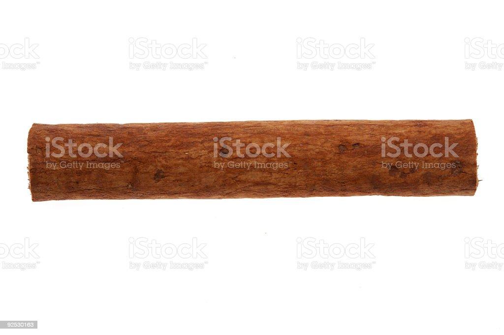 Single cinnamon stick royalty-free stock photo