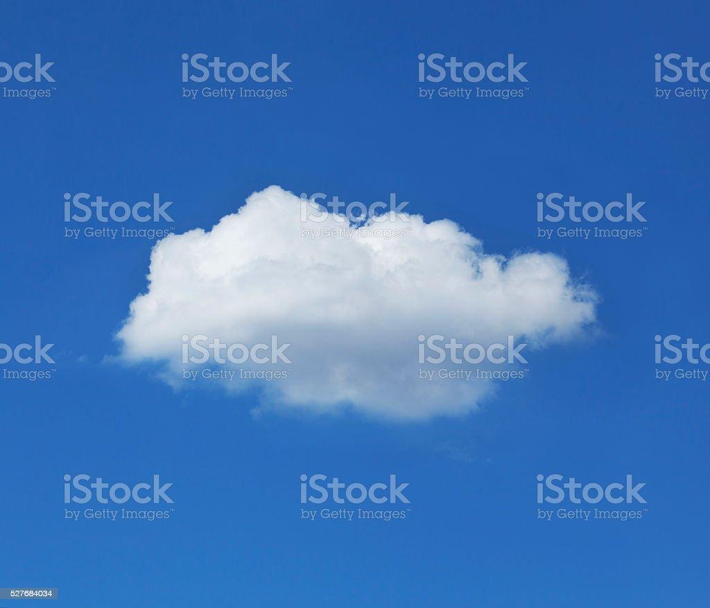 Single Cloud Against Blue Sky stock photo