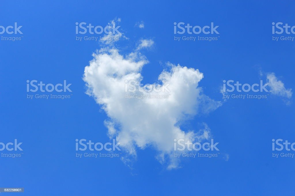 single cloud fly on the sky stock photo