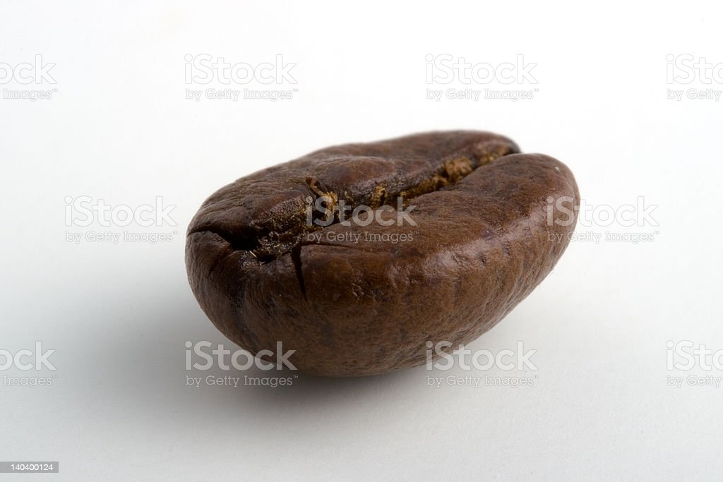 Single coffee bean royalty-free stock photo