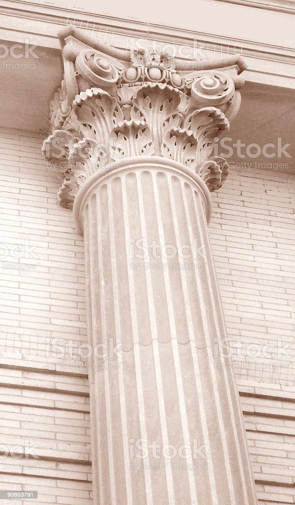 Single Column Ornate Marble Corinthian royalty-free stock photo
