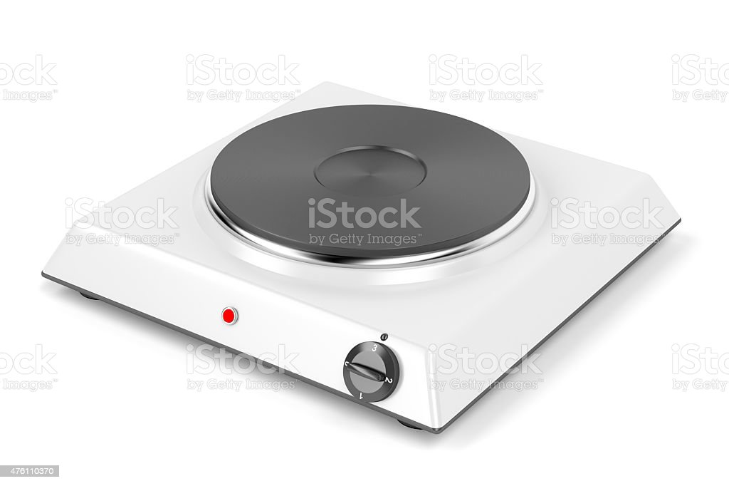 Single cooking plate stock photo