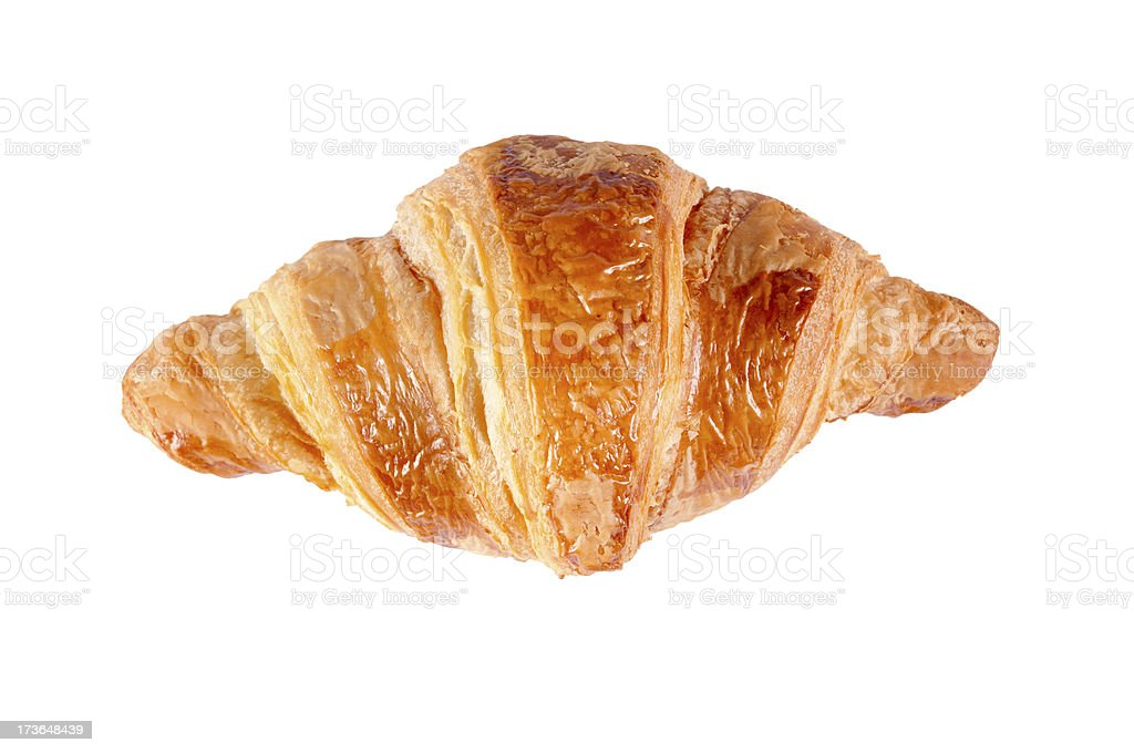 Single croissant stock photo