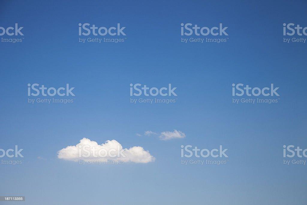Single Cumulus Cloud royalty-free stock photo