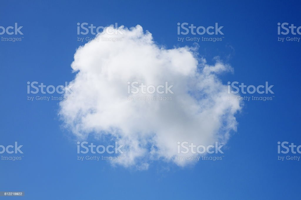 Single cumulus cloud stock photo