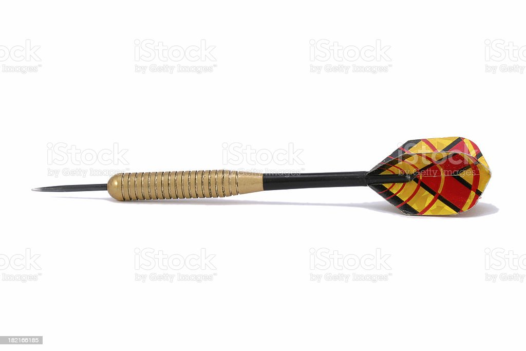 Single dart royalty-free stock photo