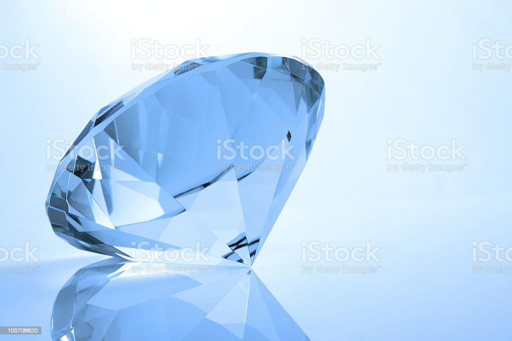 Single diamond royalty-free stock photo